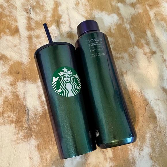 NWT Starbucks blue green glitter bundle